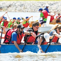 Kayaks will be available to take out for a less challenging excursion during Starts & Stripes River Festival.