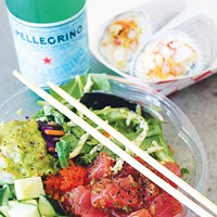 Poke Loco's build-your-own-bowl and spicy tuna are its most popular options.