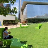 Newly redesigned Kerr Park features comfortable seating and a new pavilion.