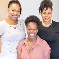 from left East End Merchant Association vice president Brandi Jones, secretary Skye Latimer and president Victoria Kemp continue working to attract and grow more businesses in northeast OKC.