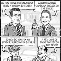 Cartoon: New state brand ≠ Brand new state