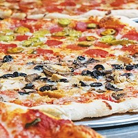 Pizza is available by the slice and whole pie at New York Pizza & Pasta.