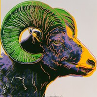 """""""Bighorn Ram"""" (1983) from Endangered Species by Andy Warhol 1998.1. 2466.10"""