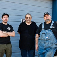 Danny Spaulding, Richard Faust and Adam Ely of Hard Luck Auto.