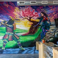 Mural inside Budo Bud by Tox Murillo @tox_m