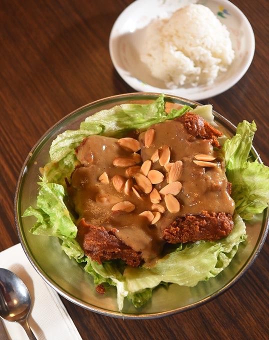 Almond Duck with rice at Canton Restaurant.  mh