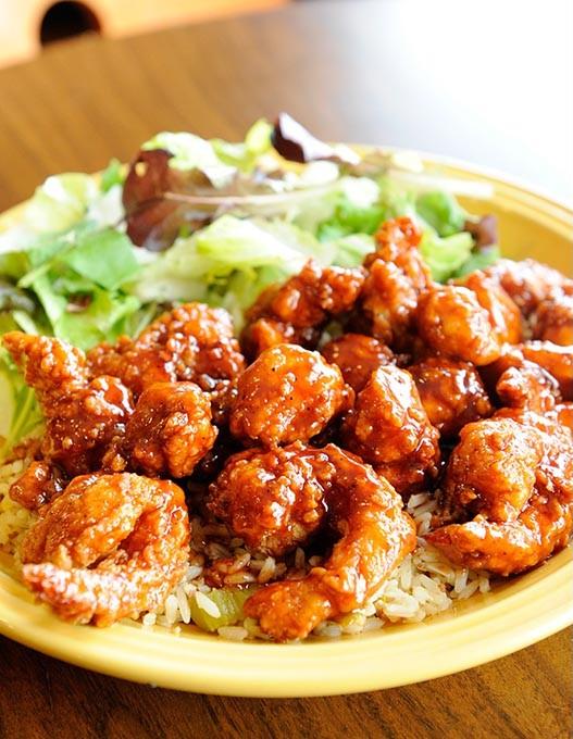 Boom Boom Chicken and Shrimp at Bighead's in Edmond, Wednesday, Feb. 11, 2015. - GARETT FISBECK