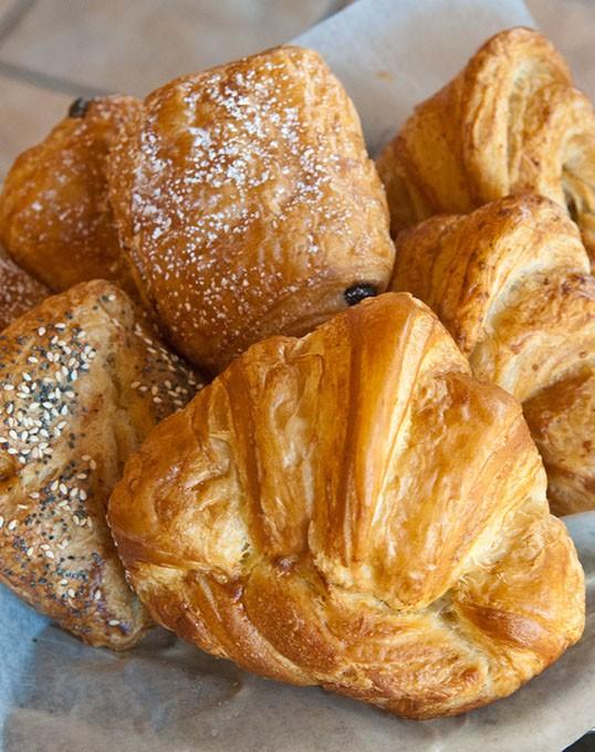Fresh breads and croissants are a regular affair at Prairie Thunder Bakery. (Mark Hancock)