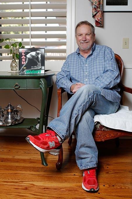Poet Richard Dixon poses for a photo at his home in Oklahoma City, Thursday, Nov. 19, 2015. - GARETT FISBECK