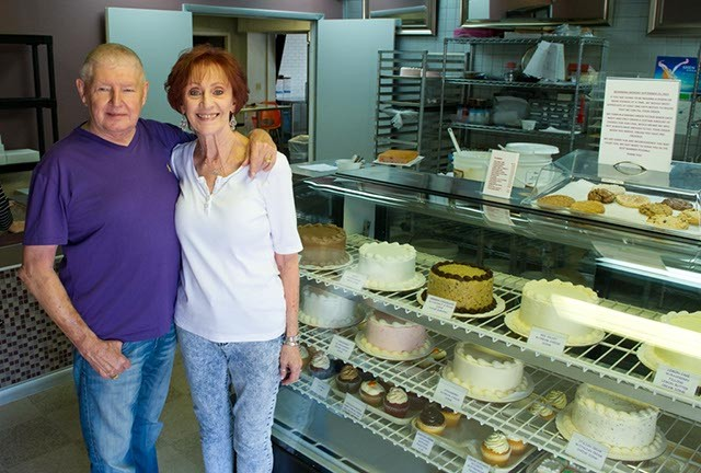 Lee Burris and Mickey Royer at the soon-to-be newest Ingrid's Bakery location (Shannon Cornman)