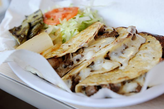Tacos Diaz at Birrieria Diaz in Bethany, Monday, March 9, 2015. - GARETT FISBECK