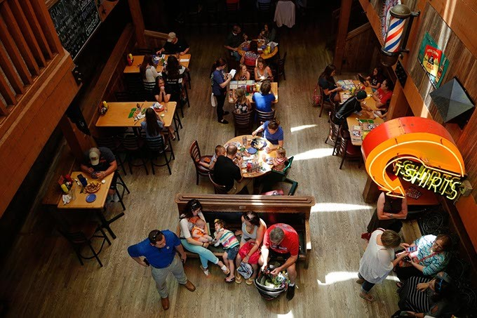 Customers dine at Eskimo Joe's in Stillwater. (Garett Fisbeck)