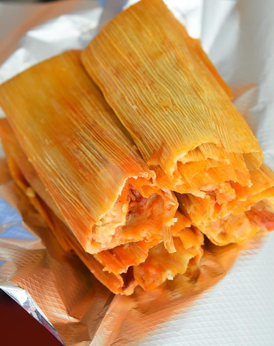 Pork Tamales at Tamales El Patio, sold by the dozen and 1/2 dozen.  mh