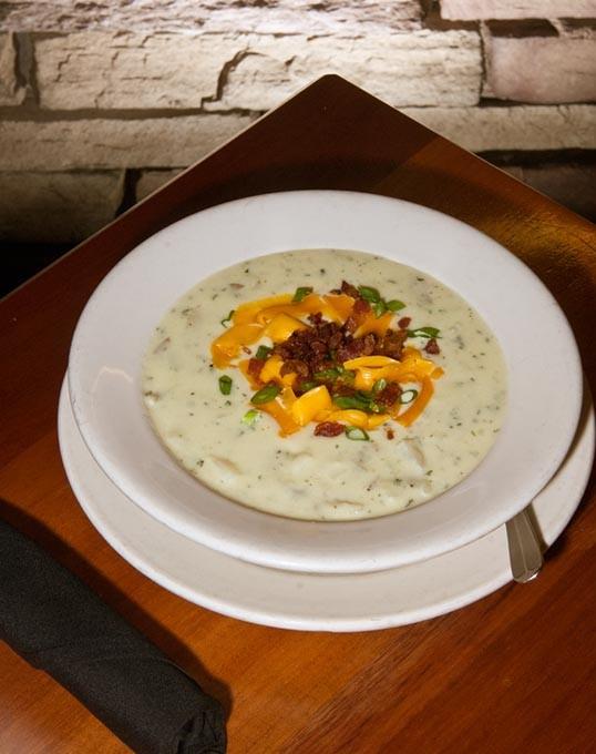 Baked potato soup (Mark Hancock)