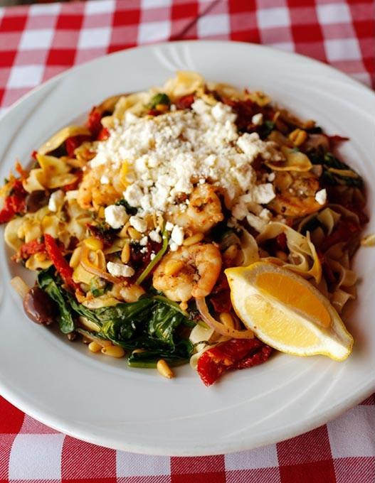 Mediterranean pasta at Flip's in Oklahoma City, Thursday, Nov. 19, 2015. - GARETT FISBECK