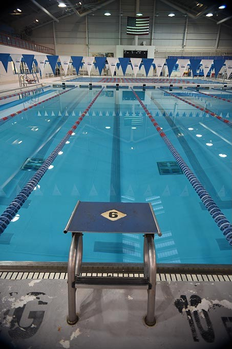 The swimming pool inside the OCCC Aquatic Center.  mh