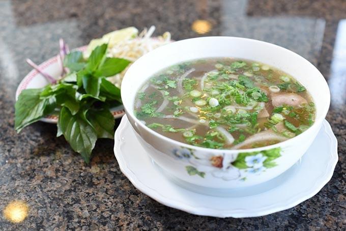 Pho tai at Gia Gia Vietnamese Family Restaurant, Friday, March 4, 2016. - GARETT FISBECK