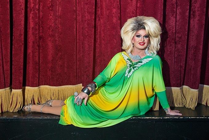 Renee Hilton, Miss Gay Oklahoma, on the Boom stage. (Mark Hancock)