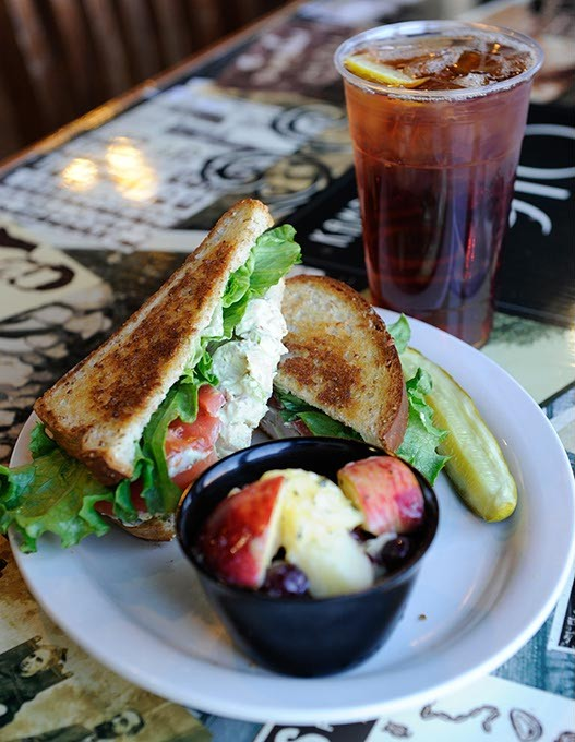 Old fashioned sandwich and tea at Kamp's 1910 Cafe in Oklahoma City, Friday, Feb. 6, 2015. - GARETT FISBECK