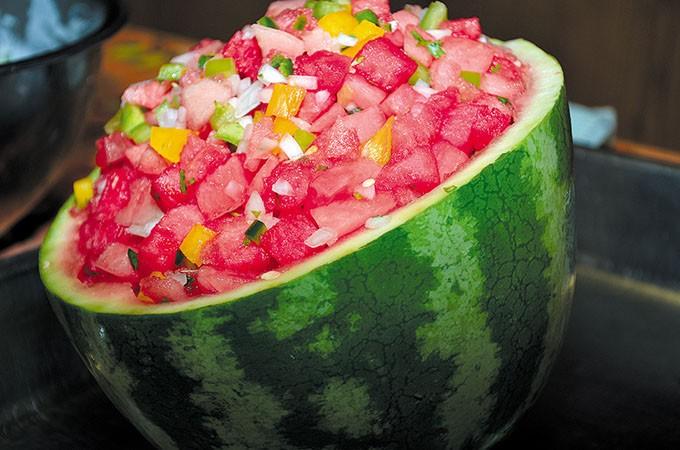Watermelon salsa (Provided)