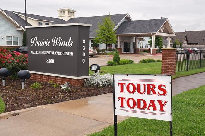 Prairie Winds Alzheimer's Special Care Center, 8300 N. May Avenue.  mh