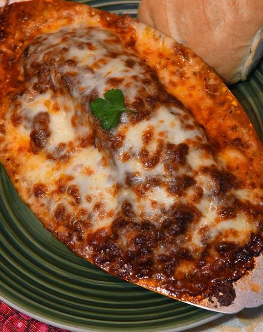 Lasagna at Bella Vista, on south Western Avenue in OKC, 11-19-15. - MARK HANCOCK