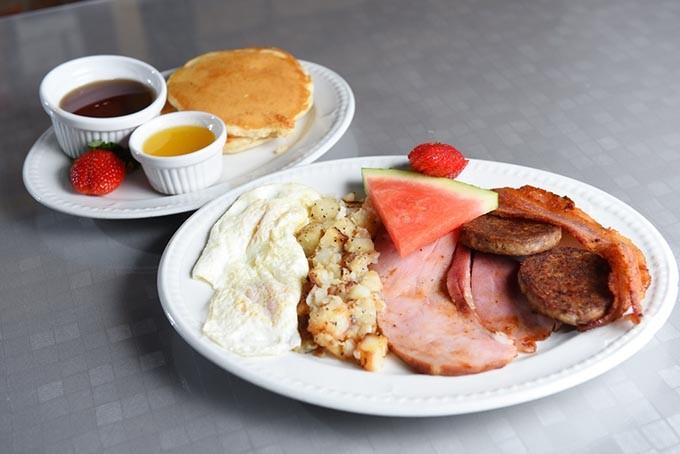The pork Big Boley Breakfast at Florence's Restaurant (Garett Fisbeck)