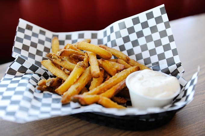 Pickle fries at Cal's Chicago Style Eatery in Oklahoma City, Thursday, March 5, 2015. - GARETT FISBECK