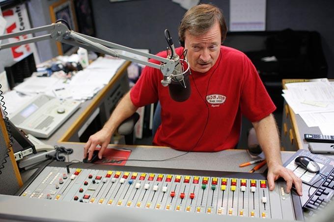 Bill Reed at the 96.1 KXY Studio in OIklahoma City, Wednesday, April 8, 2015. - GARETT FISBECK