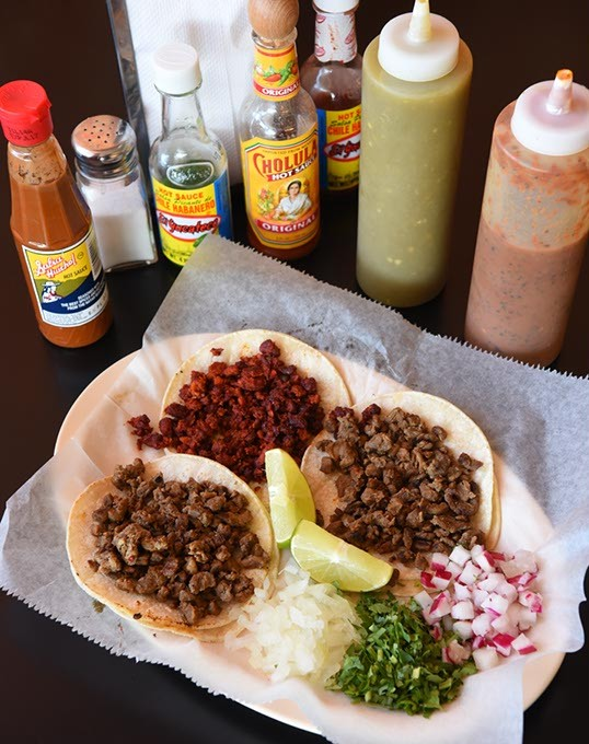 Street Tacos at La Frontera on N. MacArthur Blvd., in OKC, 11-13-15. - MARK HANCOCK
