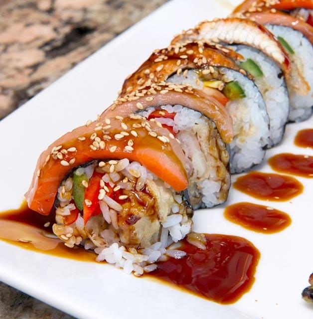 Smoked 3 way roll at Musashi's. (Shannon Cornman)