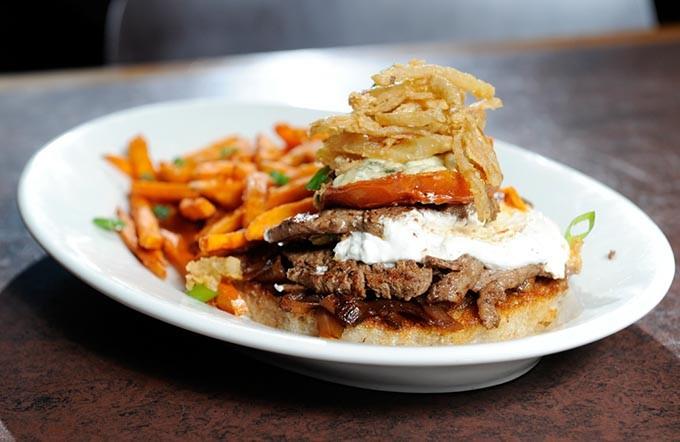Seared tenderloin slices at Cafe 501 in Oklahoma City, Monday, Jan. 26, 2015. - GARETT FISBECK