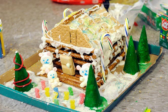 Gingerbread house at Classen SAS in Oklahoma City, Wednesday, Dec. 9, 2015. - GARETT FISBECK