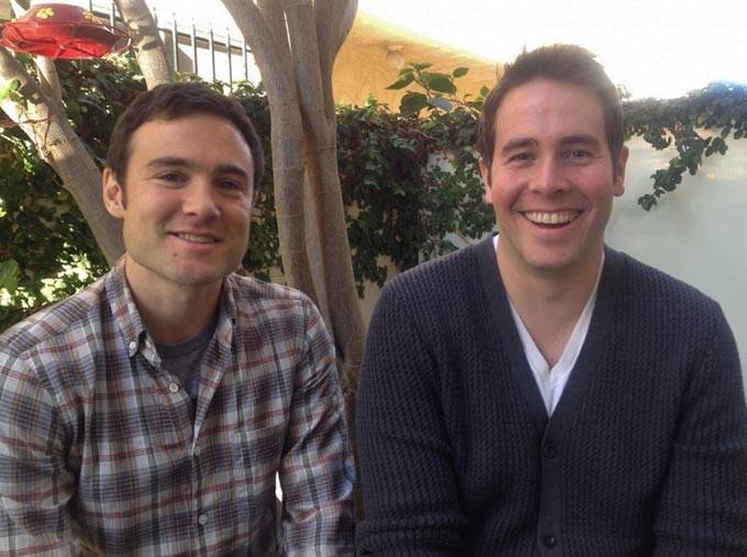 Rob Belushi and Jon Barinholz are LA-based improv duo Sheldon. - PROVIDED