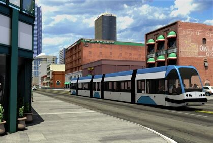 Oklahoma City is planning to build a $130 million streetcar system in downtown. - FILE