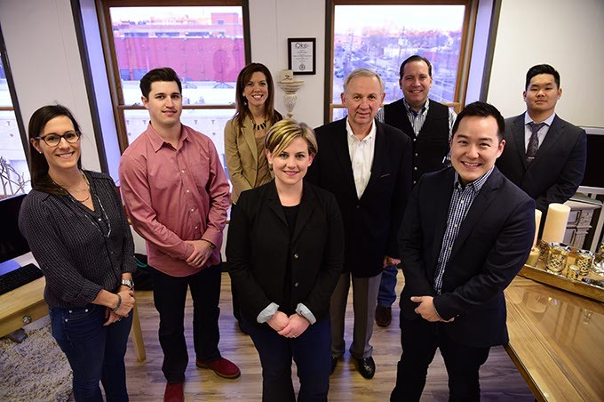 Awesome foundation trustees, from left, Lisa Mullen, Travis Stephens, Melissa Vincent, Julie Scott, Mickey Clagg, Mike Zserdin, Daniel Chae, and Andrew Hwang.  Not pictured are Veronica Pasfield, and Michael Winger.  mh