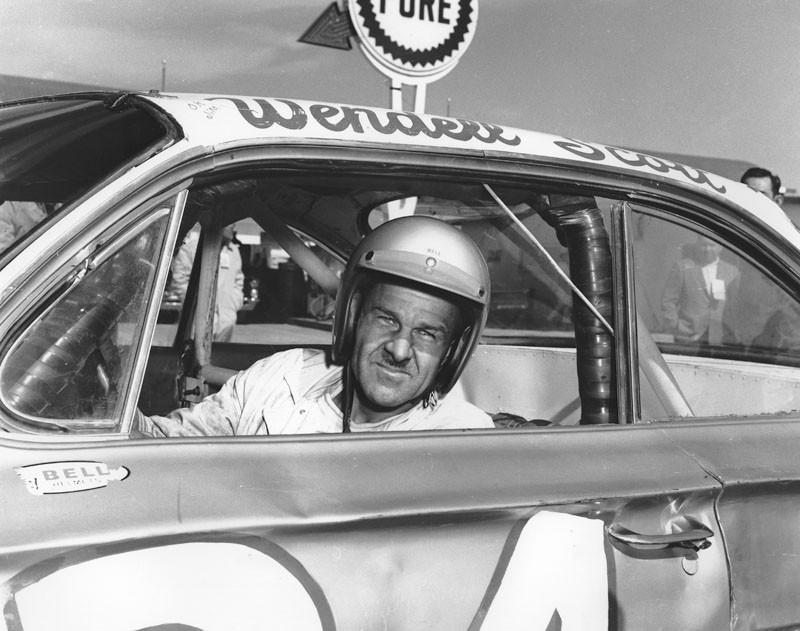 Wendell Scott of Danville. VA ran in 47 of the 55 NASCAR Cup races in 1963, scoring 15 top-ten finishes. - ISC IMAGES