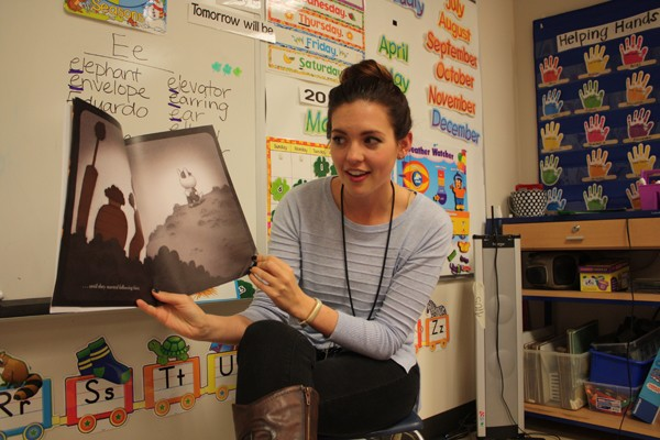 Micah Graham, a member of Teacher For America, teaches prekindergarten at Rockwood Elementary School. The University of Oklahoma alumna is in her first year of teaching.