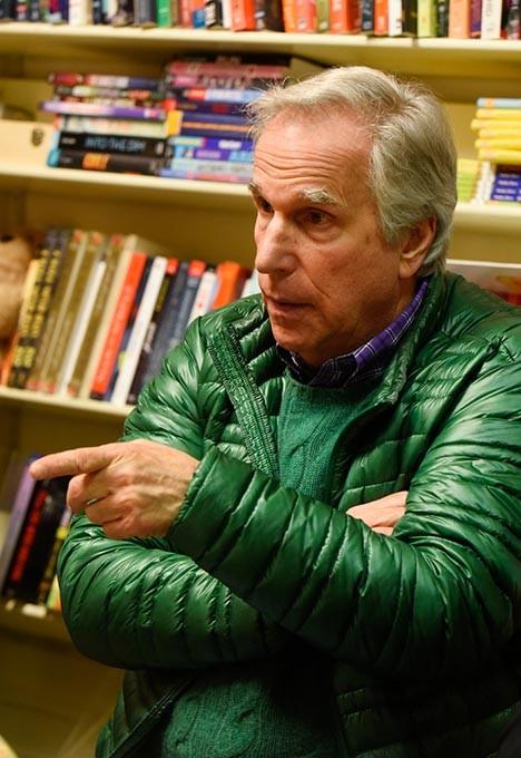 Henry Winkler talks about his children's book at Best of Books in Edmond, Thursday, March 17, 2016. - GARETT FISBECK