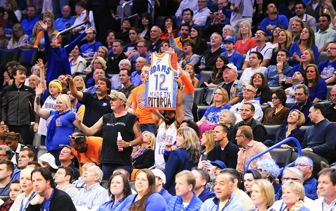 Basketball fans at Chesapeake Energy Arena (Oklahoma Gazette / File)