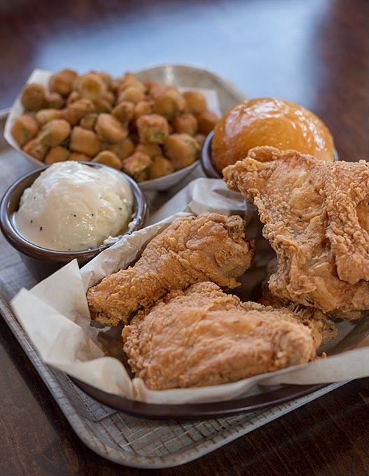 """Jim's Famous Chicken serves up """"classic fried chicken"""" in Oklahoma City, June 16, 2016. - EMMY VERDIN"""
