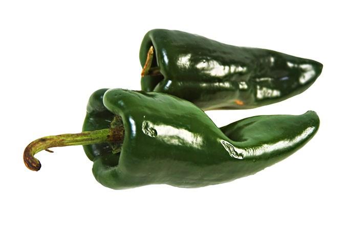 two poblano chiles - BIGSTOCK