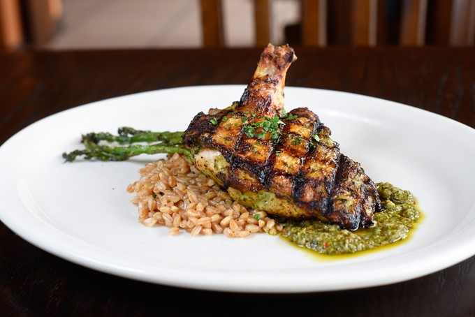?Chicken Al Mattone at Patrono, Tuesday, May 17, 2016. - GARETT FISBECK