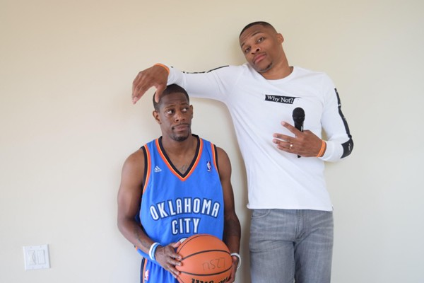 click to enlarge Russell Westbrook and Demetrius Deason grew up together  and played high school basketball on the same 99f1e82bf