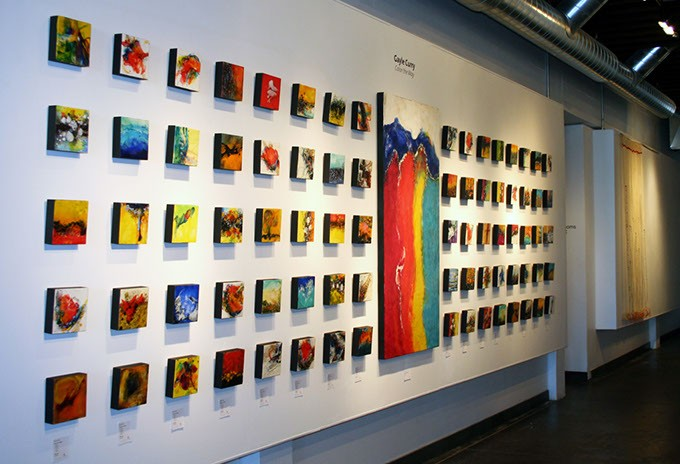 """Gayle Curry's sizable """"Color the Way"""" installation, which she said was inspired by the Tao Te Ching, an ancient text ascribed to Chinese philosopher Lao Tzu. (Photo provided)"""