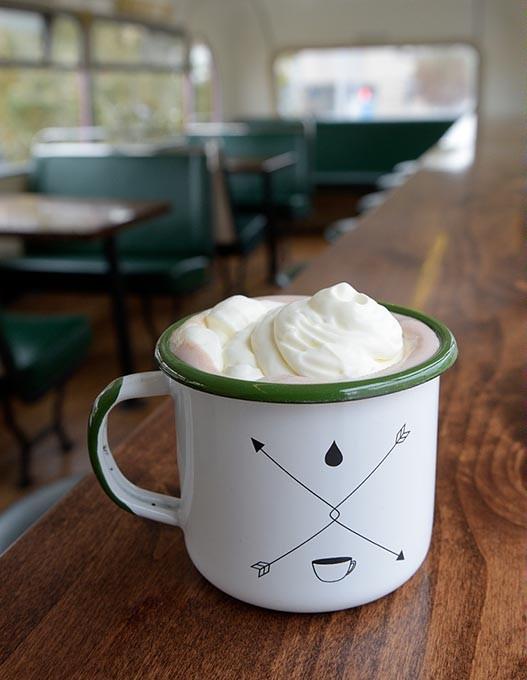 Hot chocolate at Junction Coffee Wednesday, Dec. 7, 2016. - GARETT FISBECK