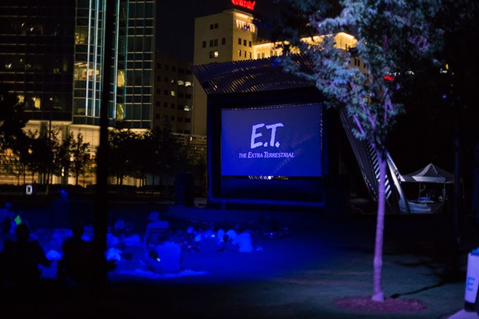 People watch ET on the lawn of the Myriad Botanical Gardens in Oklahoma City, Friday, June 10, 2016. - EMMY VERDIN