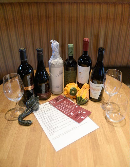 Selection of wine at Bin 73, Wednesday, Oct. 5, 2016. - GARETT FISBECK