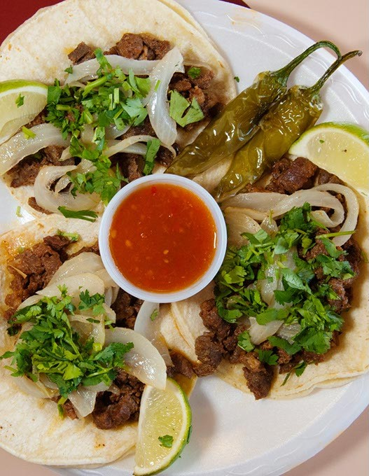 for lunch at Taco Rico, 3838 N. Lincoln Blvd.  mh