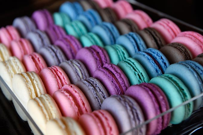 Macarons at Belle Kitchen, Tuesday, May 10, 2016. - GARETT FISBECK